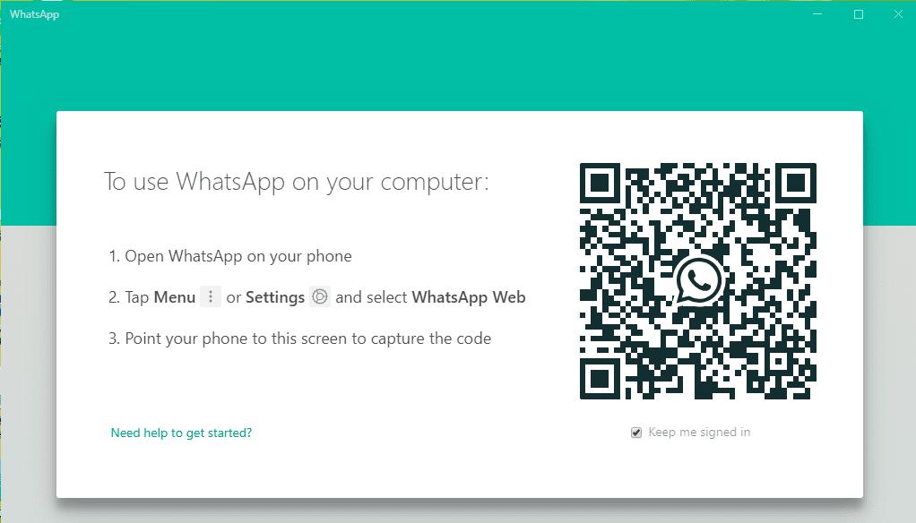 خطوات تشغيل برنامج واتساب علي الكمبيوتر 1