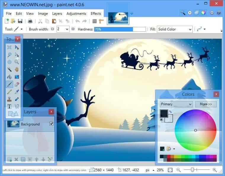 صور من داخل برنامج الرسام